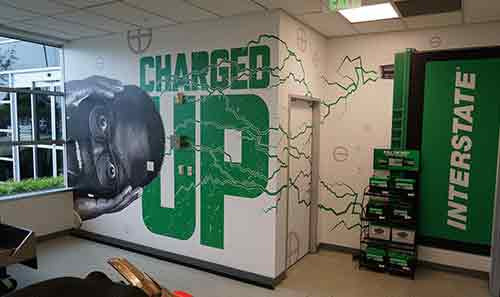 Charged up Wall at Universal Technical Institute's Interstate-branded electrical lab