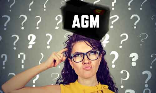 Confused woman wondering what an AGM battery is