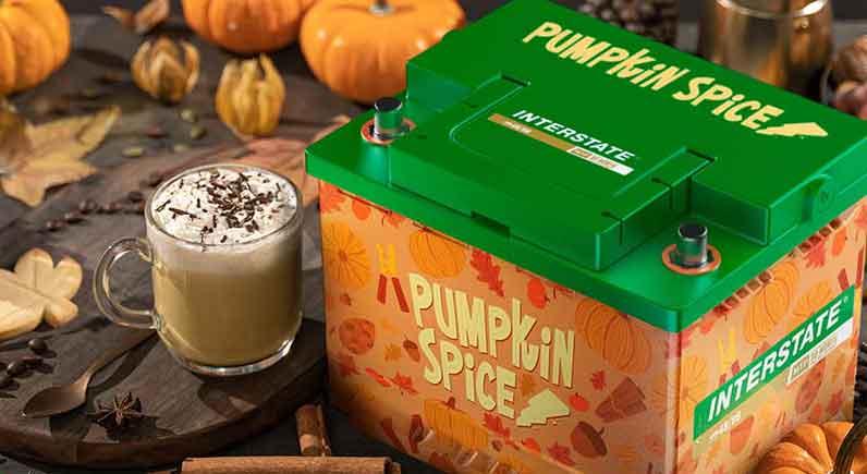 Interstate pumpkin spice battery
