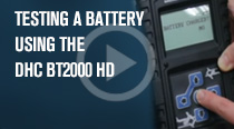 Conduct a battery test using your DHC BT2000 HD