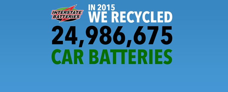In 2015 We Recycled 24,986,675 Car Batteries