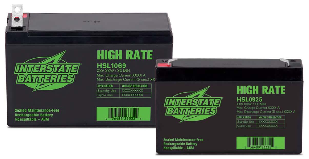 Baterías SLA de tasa alta