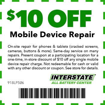 $10 off Mobile Device repair