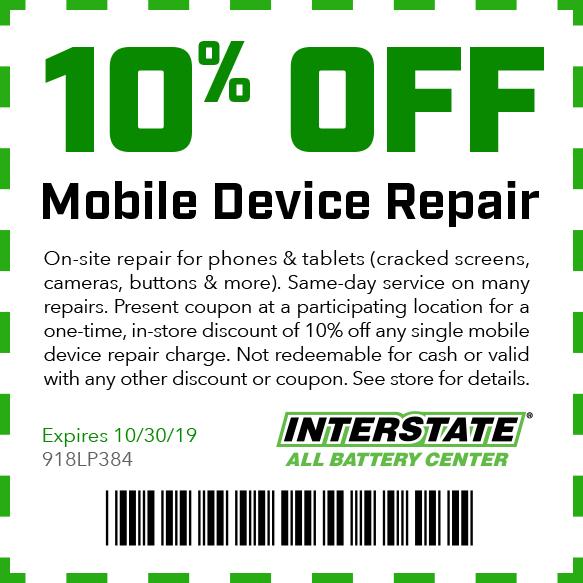 10% off Mobile Device Repair