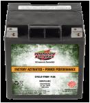 Batería de Interstate para deportes motorizados con separador de fibra de vidrio absorbente (tecnología AGM) activada en fábrica